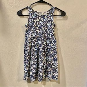 H&M Girls Blue Floral Dress